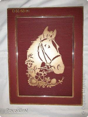 Картина панно рисунок Мастер-класс День рождения Новый год Вырезание Лошадка Картон гофрированный фото 1