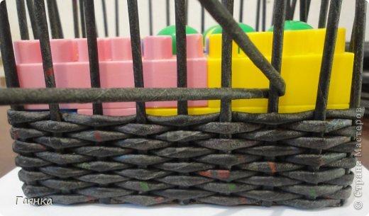Мастер-класс Поделка изделие Украшение Коллаж Плетение Цумами Канзаши Шкатулки для школьной ярмарки Ленты Трубочки бумажные фото 9