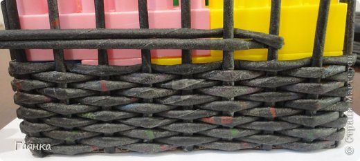 Мастер-класс Поделка изделие Украшение Коллаж Плетение Цумами Канзаши Шкатулки для школьной ярмарки Ленты Трубочки бумажные фото 10