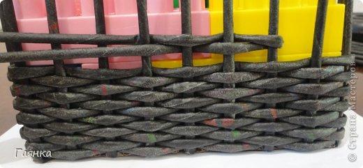 Мастер-класс Поделка изделие Украшение Коллаж Плетение Цумами Канзаши Шкатулки для школьной ярмарки Ленты Трубочки бумажные фото 12