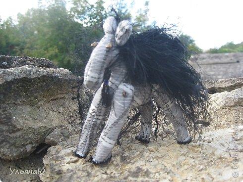 Игрушка Бисероплетение Шитьё Лошадки бывают разные Бисер Ткань фото 3