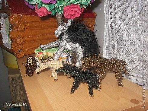 Игрушка Бисероплетение Шитьё Лошадки бывают разные Бисер Ткань фото 6