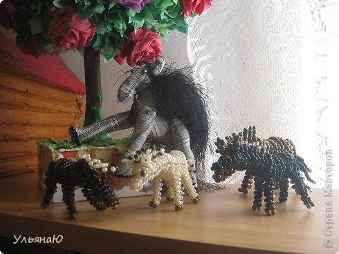Игрушка Бисероплетение Шитьё Лошадки бывают разные Бисер Ткань фото 1