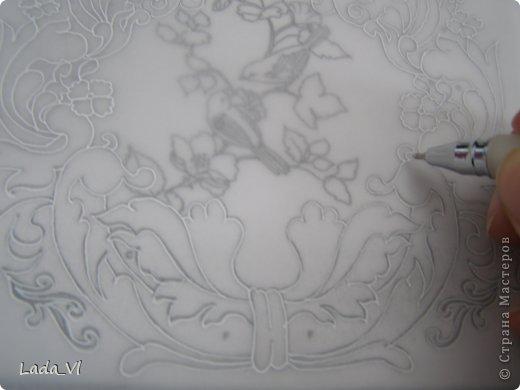 Мастер-класс Открытка Пергамано Открытка в технике Пергамано Парчмент и МК по основам техники пергамано Бумага Карандаш фото 2