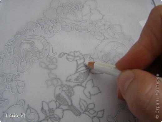 Мастер-класс Открытка Пергамано Открытка в технике Пергамано Парчмент и МК по основам техники пергамано Бумага Карандаш фото 3