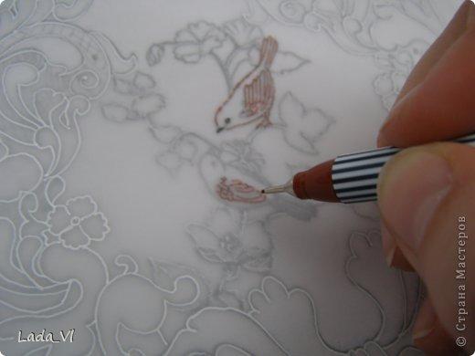 Мастер-класс Открытка Пергамано Открытка в технике Пергамано Парчмент и МК по основам техники пергамано Бумага Карандаш фото 4