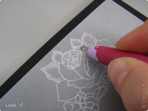 В этом кратком МК представлены основные этапы создания открытки в технике пергамано (Парчмент). фото 5