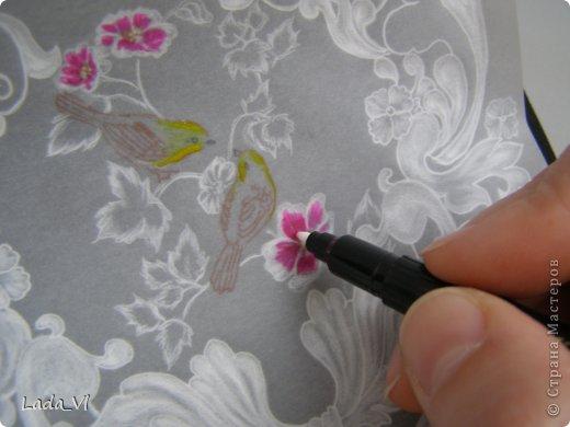 В этом кратком МК представлены основные этапы создания открытки в технике пергамано (Парчмент). фото 8