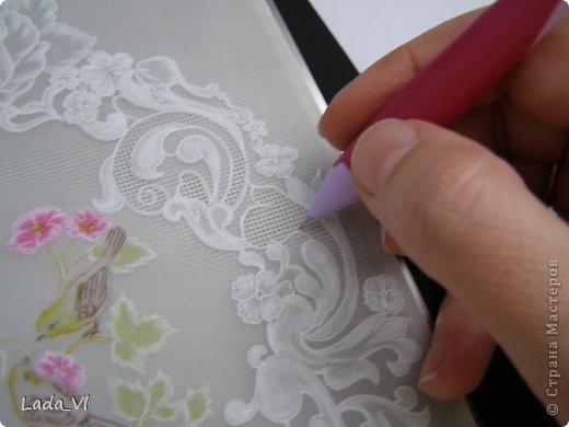 В этом кратком МК представлены основные этапы создания открытки в технике пергамано (Парчмент). фото 11