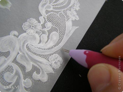 В этом кратком МК представлены основные этапы создания открытки в технике пергамано (Парчмент). фото 12