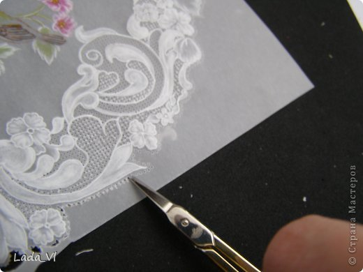 В этом кратком МК представлены основные этапы создания открытки в технике пергамано (Парчмент). фото 13