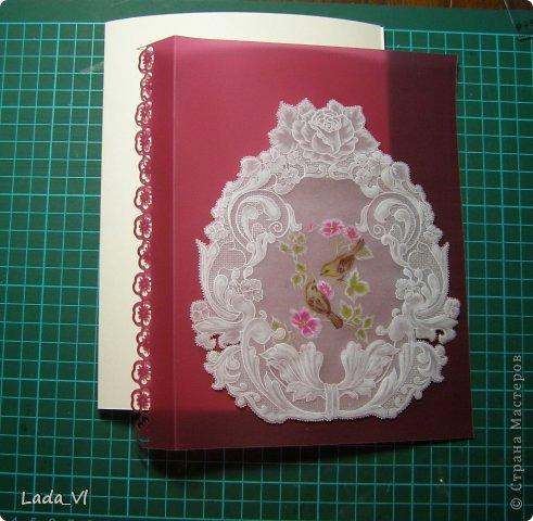 В этом кратком МК представлены основные этапы создания открытки в технике пергамано (Парчмент). фото 14