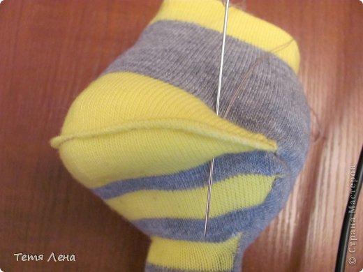 Игрушка Мастер-класс Вязание крючком Шитьё Страус из носков + МК Носки Пряжа фото 21