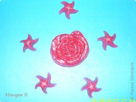 """Вот такая яркая роза с розовыми глиттерами (блёстками) у меня получилась!) Аромат соответственно """"Роза"""" :)"""