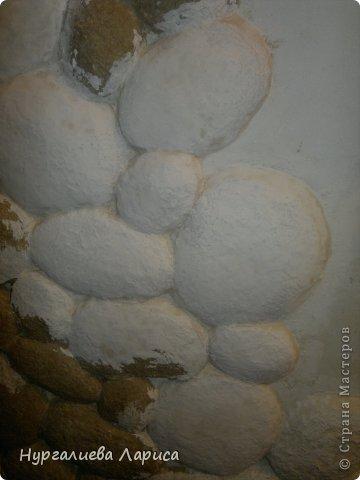 Интерьер Мастер-класс Папье-маше Декор стены камнями Бумага Картон Клей фото 11