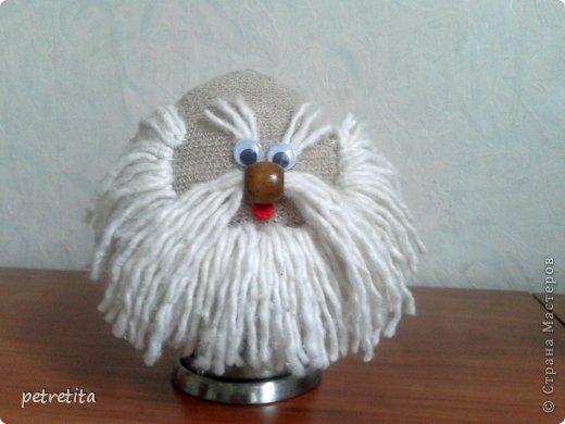 Куклы Мастер-класс Домовенок на новоселье Материал природный Мешковина Нитки Семена фото 8