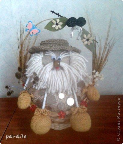 Куклы Мастер-класс Домовенок на новоселье Материал природный Мешковина Нитки Семена фото 17