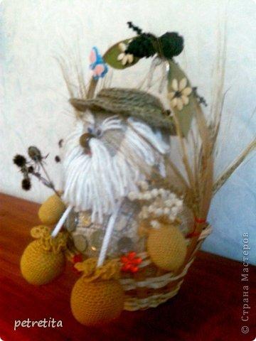 Куклы Мастер-класс Домовенок на новоселье Материал природный Мешковина Нитки Семена фото 19