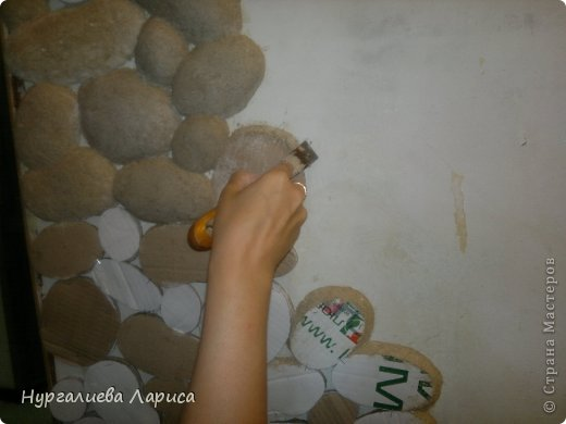 Декоративный камень своими руками из папье-маше