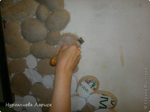 Интерьер Мастер-класс Папье-маше Декор стены камнями Бумага Картон Клей фото 3