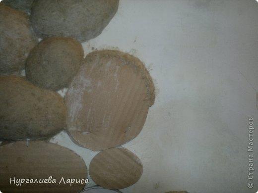 Интерьер Мастер-класс Папье-маше Декор стены камнями Бумага Картон Клей фото 4