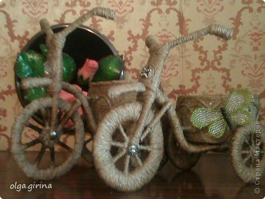 Мастер-класс Поделка изделие Плетение велосипед как у всех но не совсем мини мк колеса Тесьма шнур Трубочки бумажные фото 2