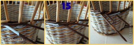 Мастер-класс Поделка изделие Плетение ШКАТУЛКА из газет для новичков МАСТЕР_КЛАСС Бумага газетная Трубочки бумажные фото 19