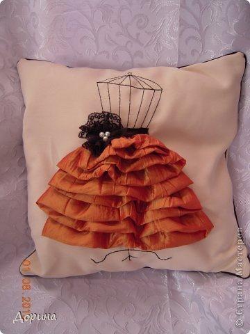 Мастер-класс Шитьё Подушка Модница Ткань фото 1