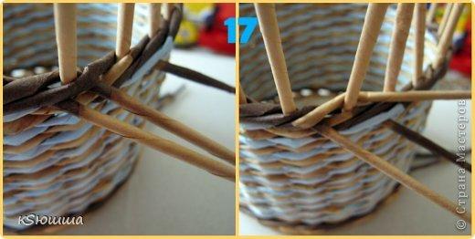 Мастер-класс Поделка изделие Плетение ШКАТУЛКА из газет для новичков МАСТЕР_КЛАСС Бумага газетная Трубочки бумажные фото 21