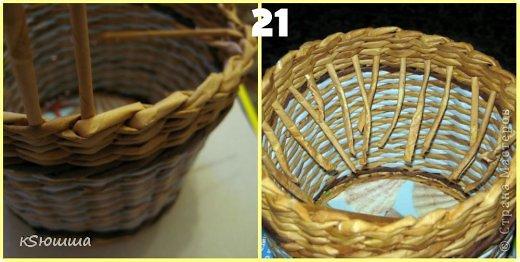 Мастер-класс Поделка изделие Плетение ШКАТУЛКА из газет для новичков МАСТЕР_КЛАСС Бумага газетная Трубочки бумажные фото 25