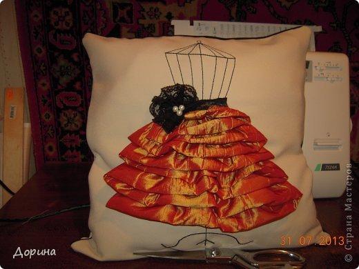 Мастер-класс Шитьё Подушка Модница Ткань фото 25