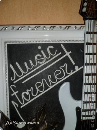 Картина панно рисунок Мастер-класс День рождения Ассамбляж Картины из кожи Гитара 1 и Гитара 2  Кожа фото 7