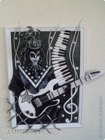 Картина панно рисунок Мастер-класс День рождения Ассамбляж Картины из кожи Гитара 1 и Гитара 2  Кожа фото 46