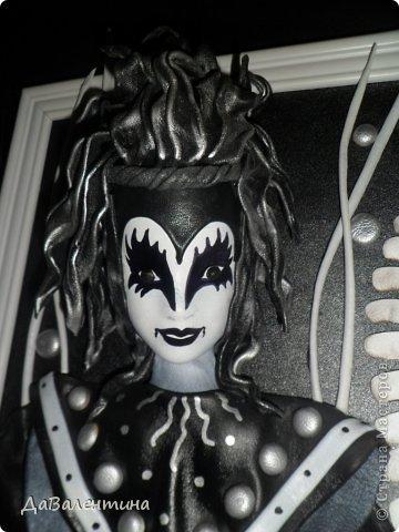 Картина панно рисунок Мастер-класс День рождения Ассамбляж Картины из кожи Гитара 1 и Гитара 2  Кожа фото 12