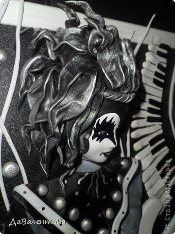 Картина панно рисунок Мастер-класс День рождения Ассамбляж Картины из кожи Гитара 1 и Гитара 2  Кожа фото 16