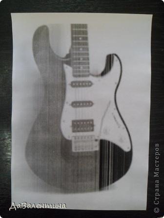 Картина панно рисунок Мастер-класс День рождения Ассамбляж Картины из кожи Гитара 1 и Гитара 2  Кожа фото 17