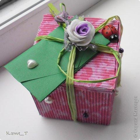 вот сама коробочка из гофрированного картона фото 1