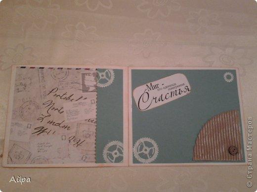 Доброго времени суток дорогие мастерицы! Недавно увлеклась скрапом, давно собиралась и вот наваяла первые открытки! Очень жду ваших отзывов и советов!  фото 8