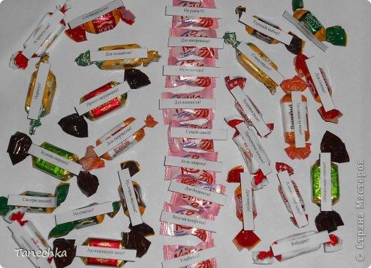 Мешочек счастья своими руками с конфетами надписи