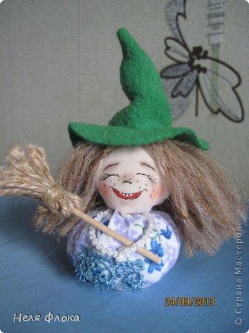 Куклы Мастер-класс Шитьё Озорная ведьмочка Мастер класс Ткань фото 1