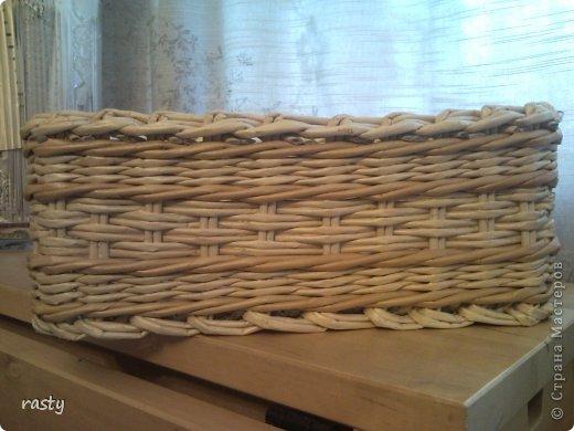 Поделка изделие Плетение Сложное плетеное донышко по МК Тищенко Бумага газетная Трубочки бумажные фото 6