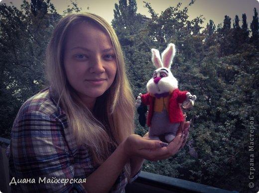 """Белый кролик с мультфильма: """"Алиса в стране чудес"""" всё куда-то спешит)вот забежал на чай) фото 4"""