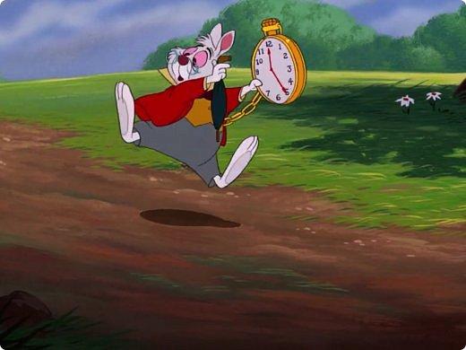 """Белый кролик с мультфильма: """"Алиса в стране чудес"""" всё куда-то спешит)вот забежал на чай) фото 5"""