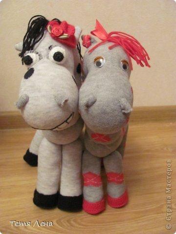 Игрушка Мастер-класс Шитьё Лошадь из носков МК Носки Пряжа фото 1