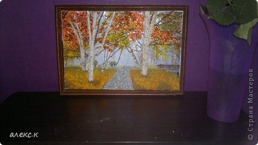 Картина панно рисунок Праздник осени Ассамбляж Осень в 3-Д Помогите пожалуйста нужна Ваша помощь Бисер Дерево фото 3.