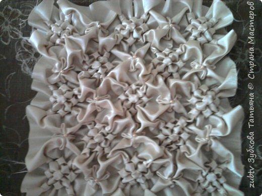 Интерьер Мастер-класс Шитьё Подушка в технике буфы Зефир Ткань фото 23