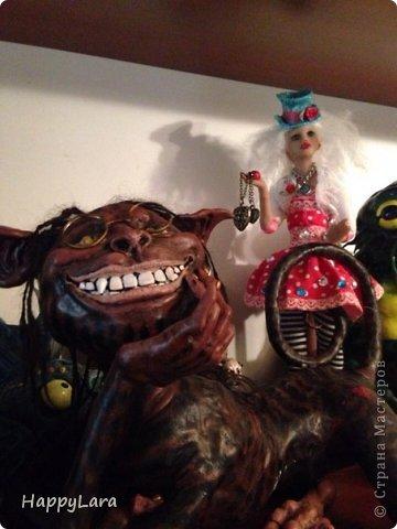 """Моя первая кукла из полимерной глины=) Шляпница=) как ДЖонни ДЕпп из """"Алисы в стране Чудес""""..только у меня """"ОНА""""  фото 9"""