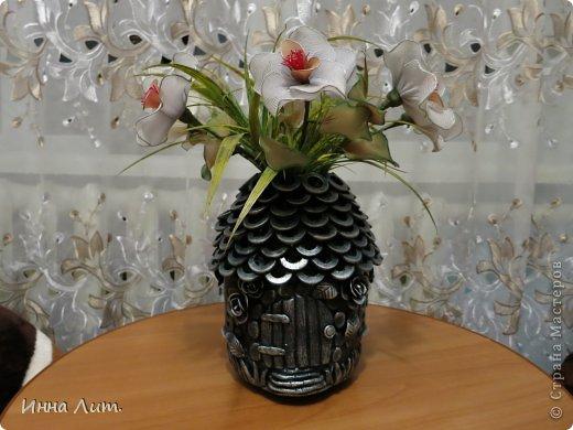 Как сделать из 3 литровой банки вазу своими руками 29