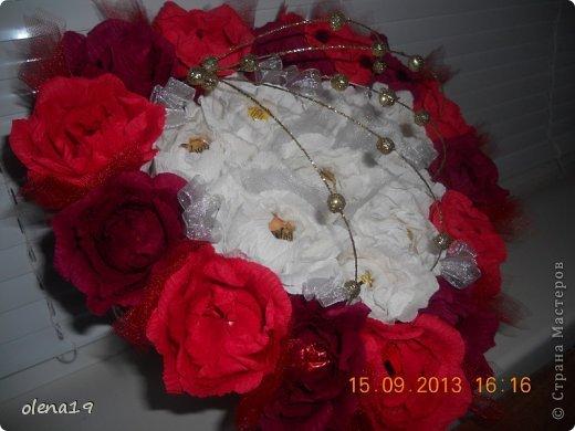Здравствуйте! Вот и я с новыми работами. Первая - корзинка с цветочками на день рождения очень хорошей девушки. Она замечательный человек!!! Хотелось, чтобы ей улыбнулось счастье!!! фото 3