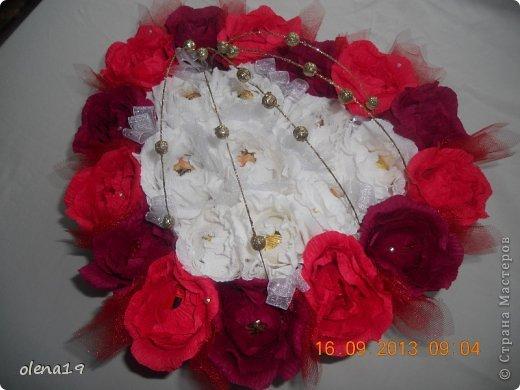 Здравствуйте! Вот и я с новыми работами. Первая - корзинка с цветочками на день рождения очень хорошей девушки. Она замечательный человек!!! Хотелось, чтобы ей улыбнулось счастье!!! фото 4